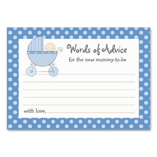 8 Images of Mommy Advice Cards Printable