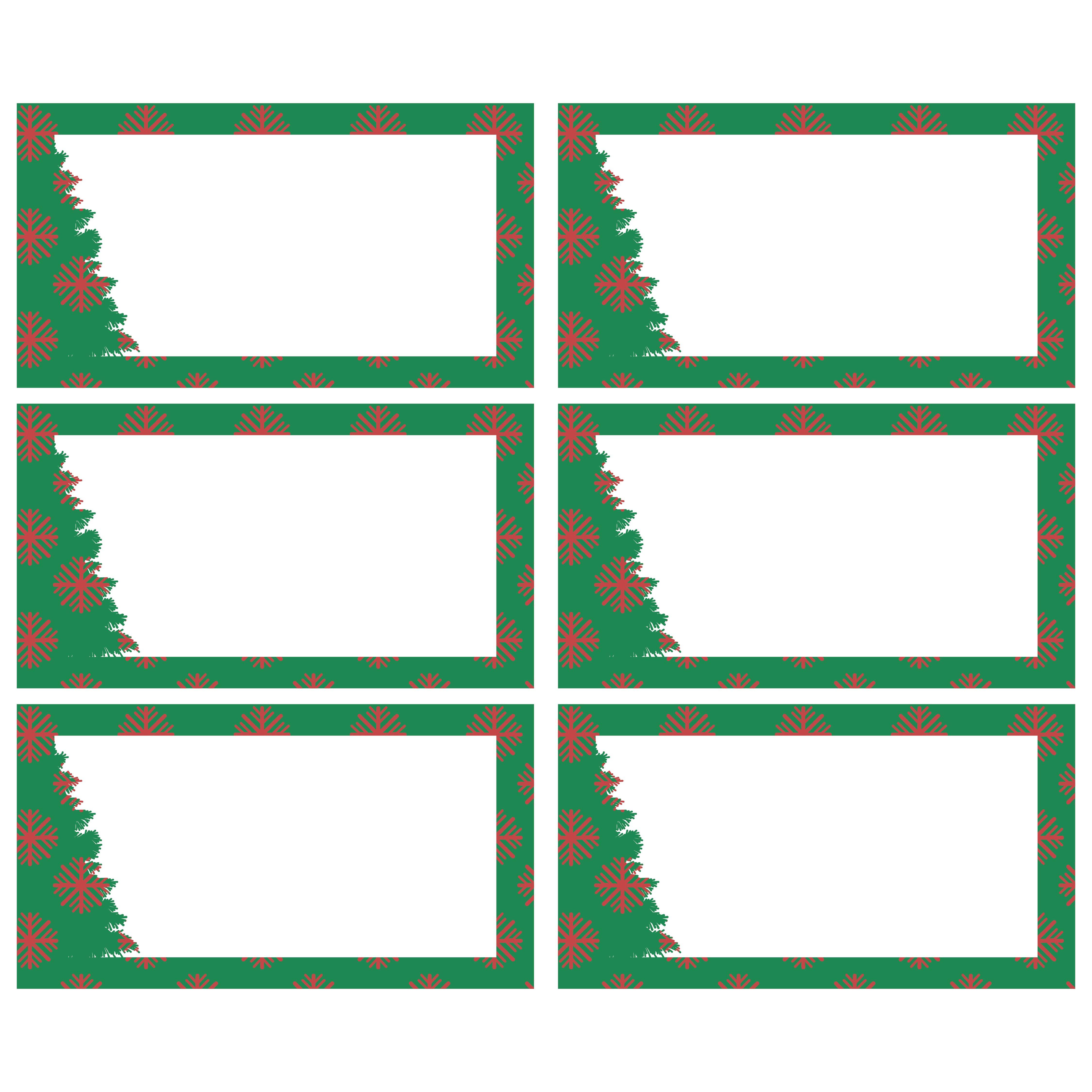Blank Label Templates Christmas