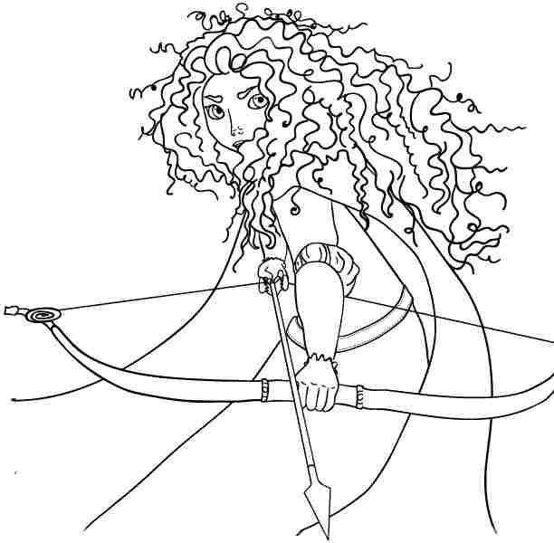 4 Best Images Of Free Printable Brave Coloring Pages Disney Princess Merida Coloring Pages Printable