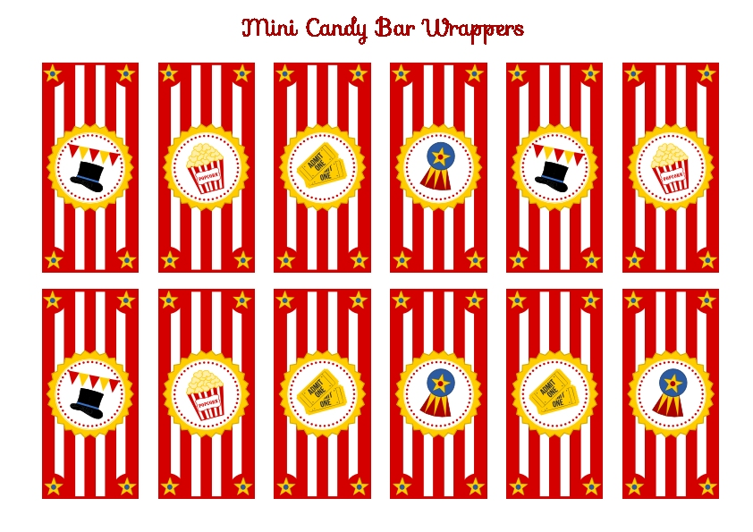 Circus Birthday Party Free Printables