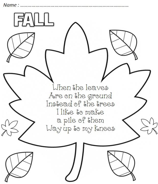 Cute Fall Poem