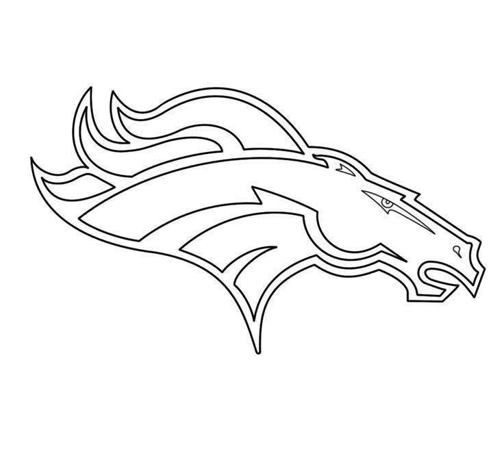 Denver Broncos Logo Coloring
