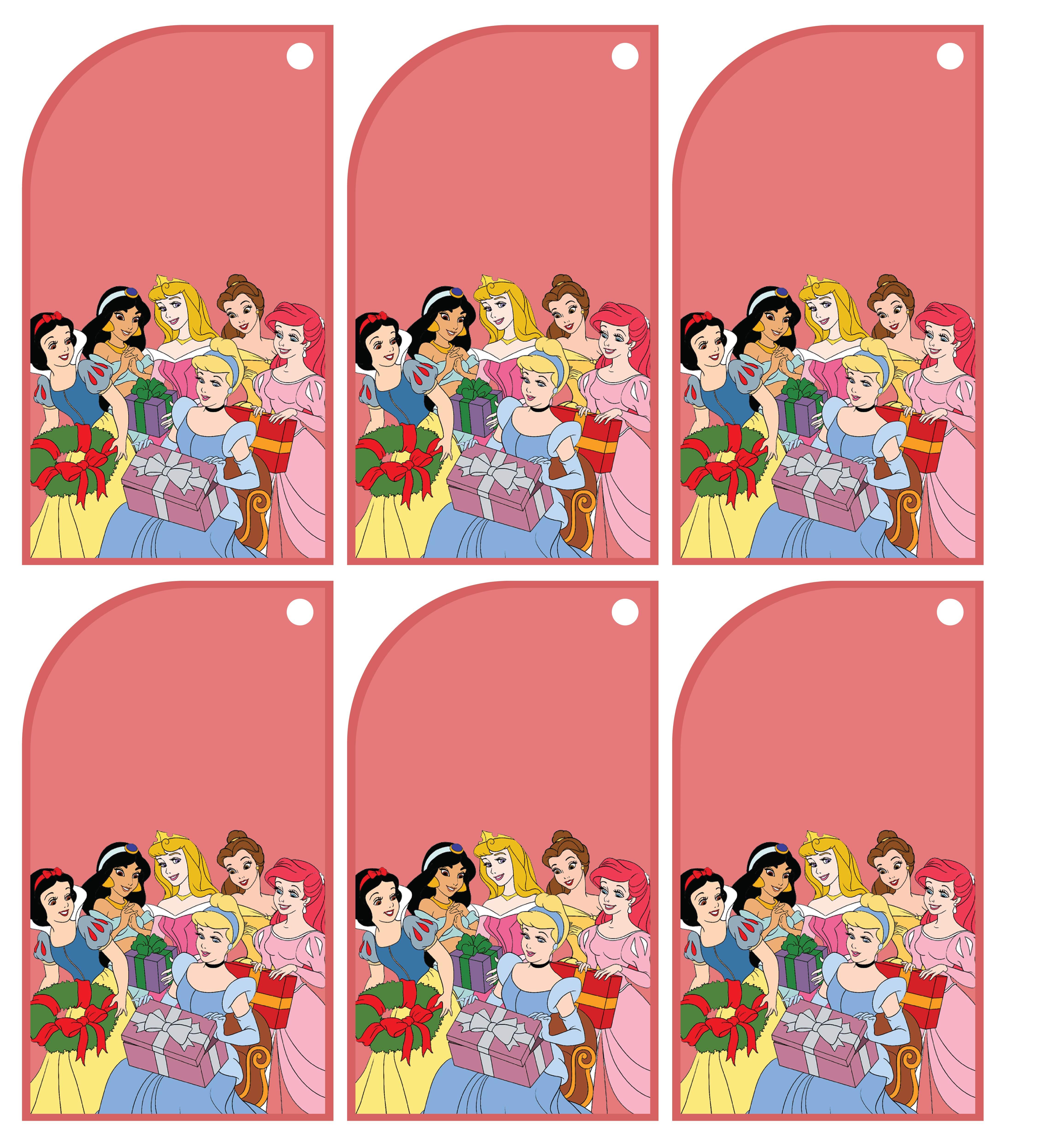 5 Images of Disney Christmas Printable Gift Tags