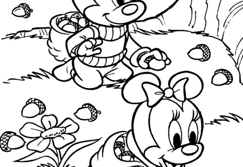 6 best images of disney fall coloring printable winnie for Disney fall coloring pages printable