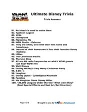 6 Images of Disneyland Trivia Questions Printable