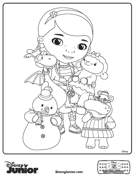 6 Images of Doc McStuffins Coloring Pages Free Printables