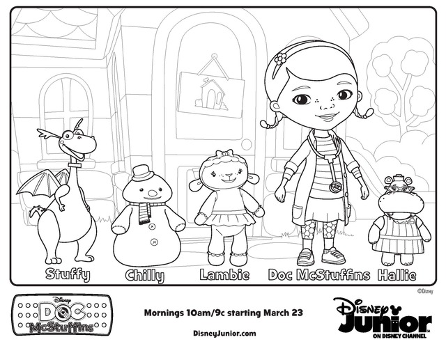 Doc McStuffins coloring pages on Coloring-Book.info | 494x640