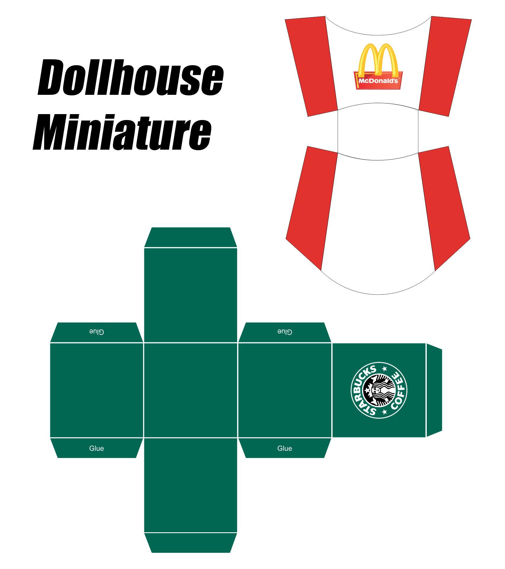 Dollhouse Miniature Printies