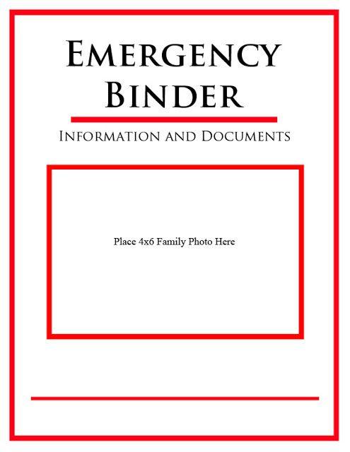 5 Images of Emergency Binder Printables