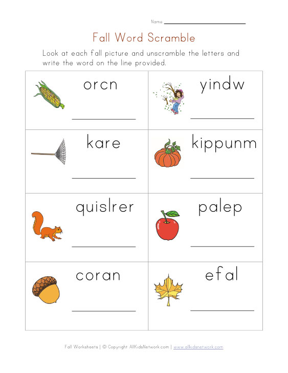 Word Scramble Worksheets With Pictures Worksheet Pages – Word Scramble Worksheet