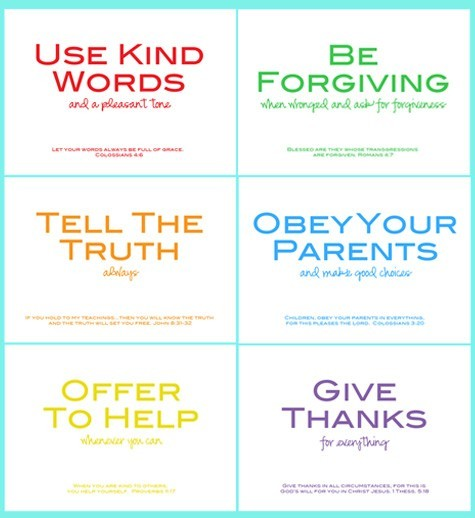5 Images of Family Rules Chart Printable