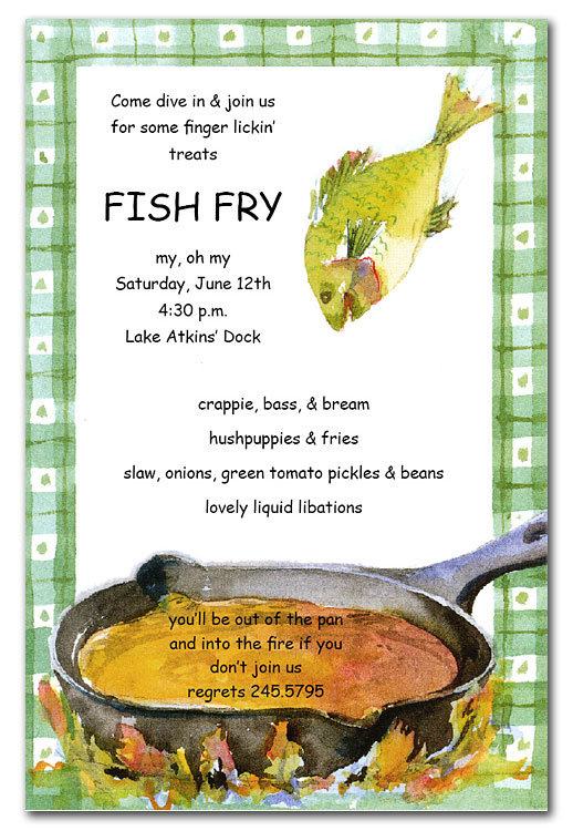 6 Images of Fish Fry Invitations Printable Free