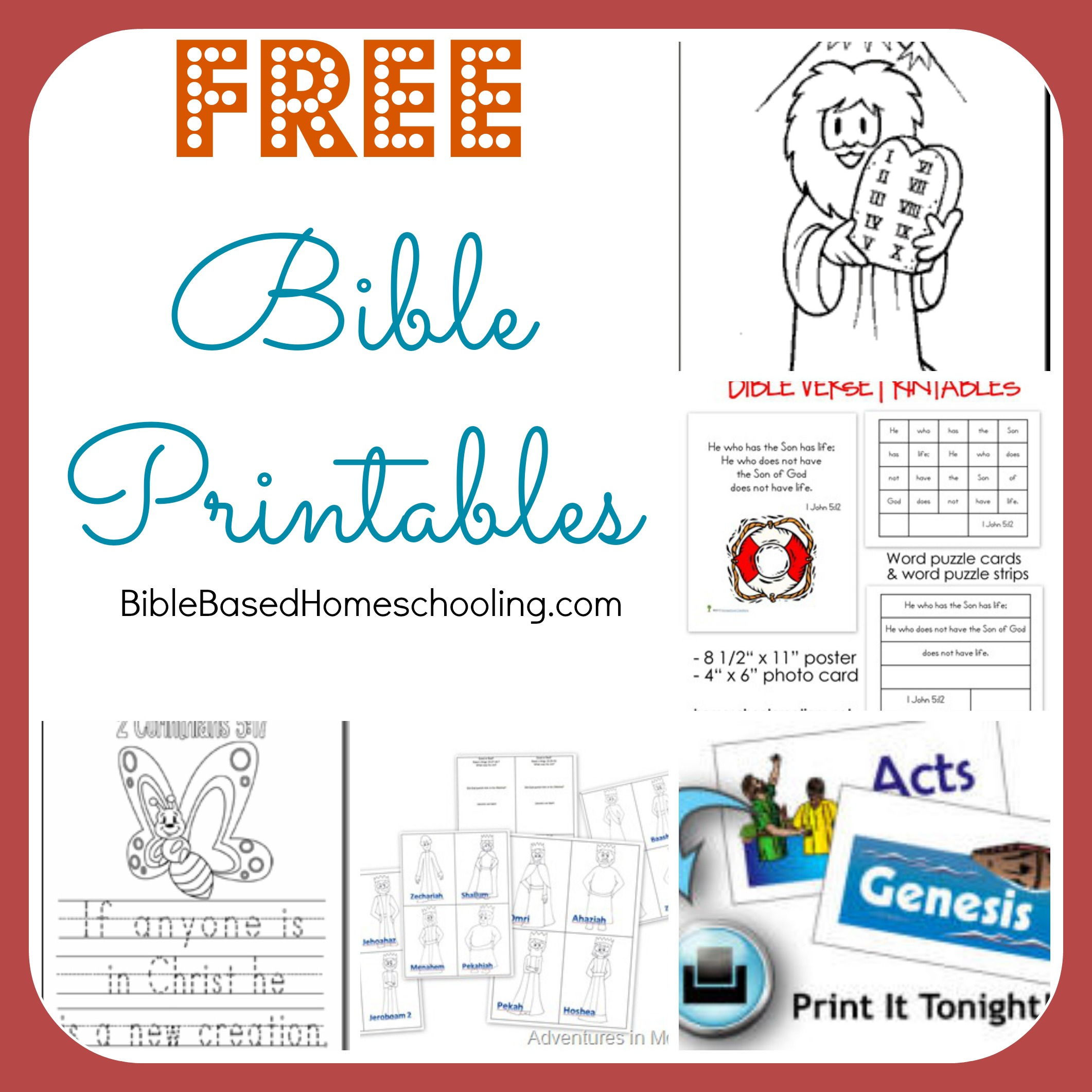 8 Images of Free Bible Printables For Preschoolers