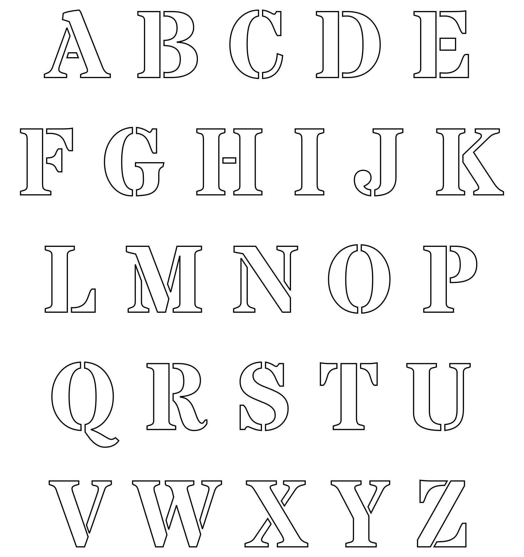 Cut Out Letters Stencils