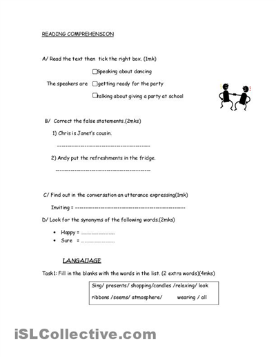 8th grade ela printable worksheets