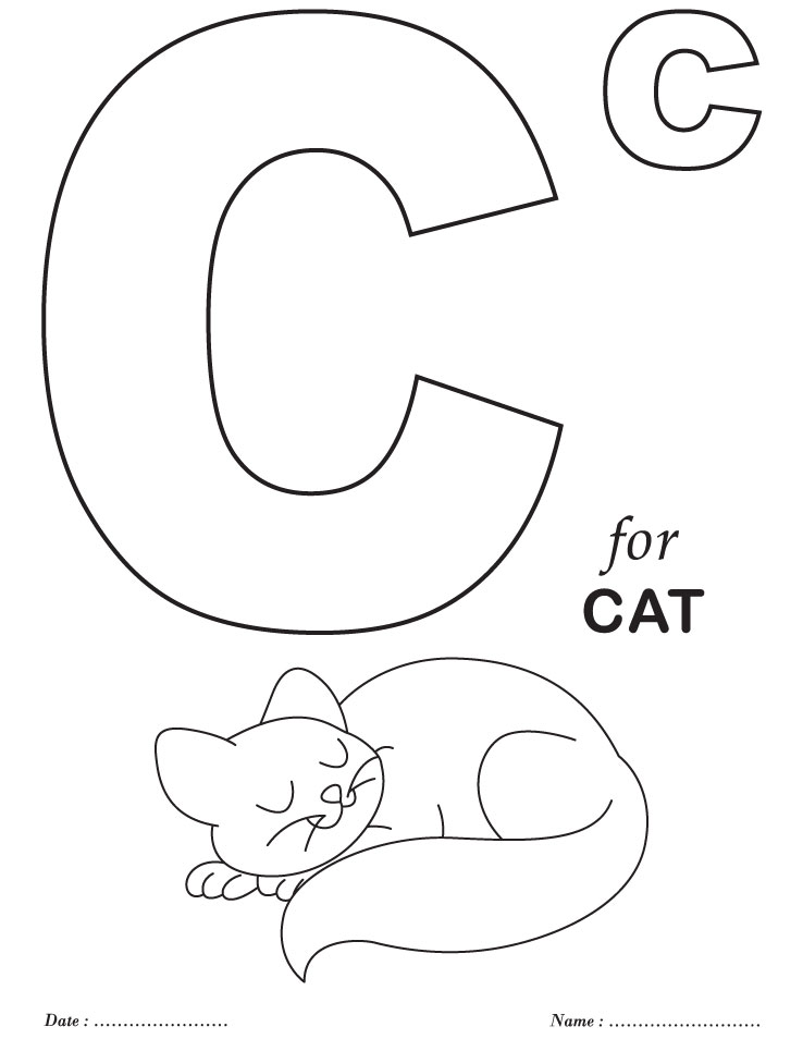Free Printable Alphabet Letter Coloring Pages