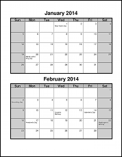 7 Images of 2 Month Calendar Template Printable