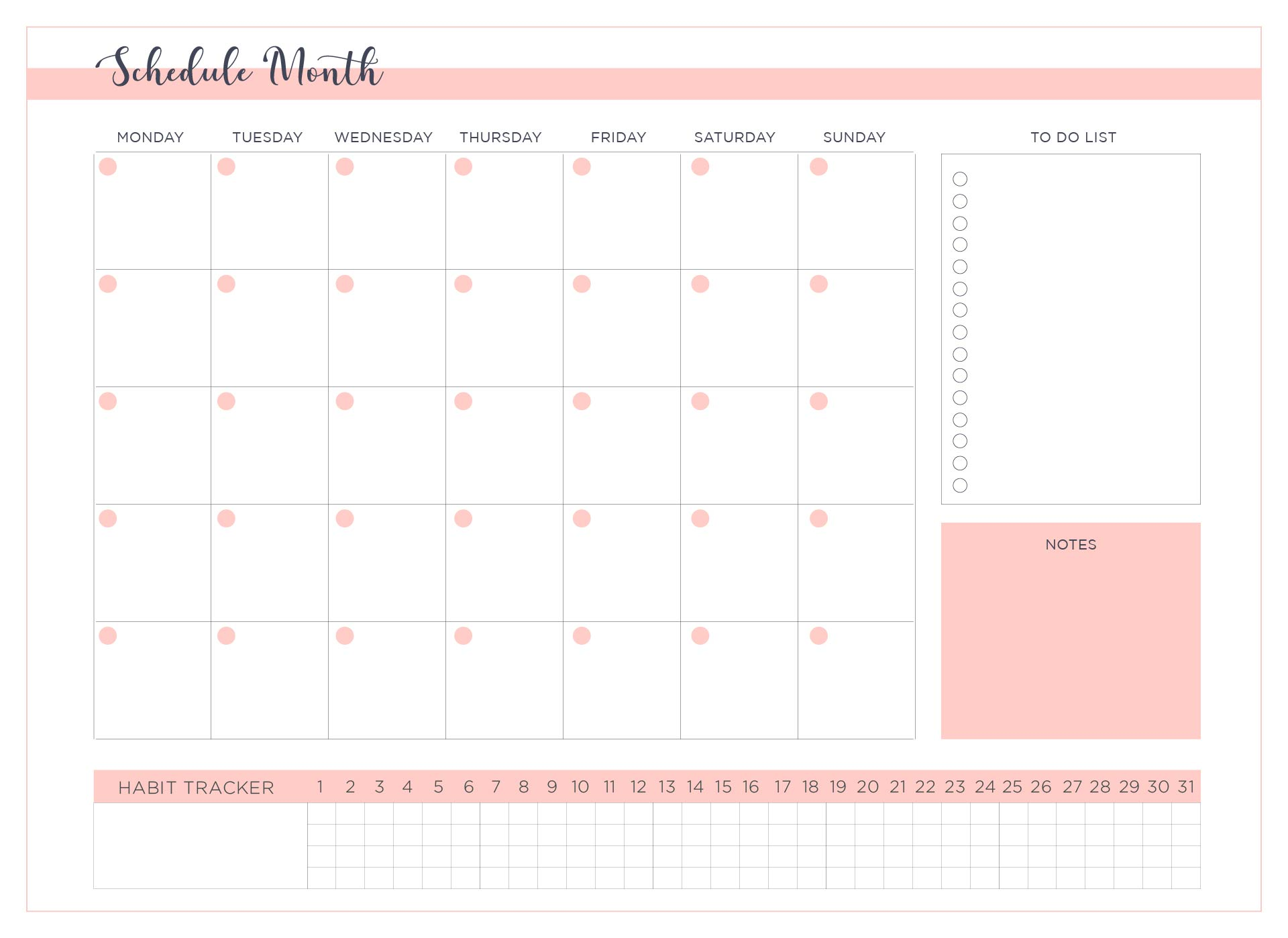 Employee Work Schedule Template Printable | Calendar ...