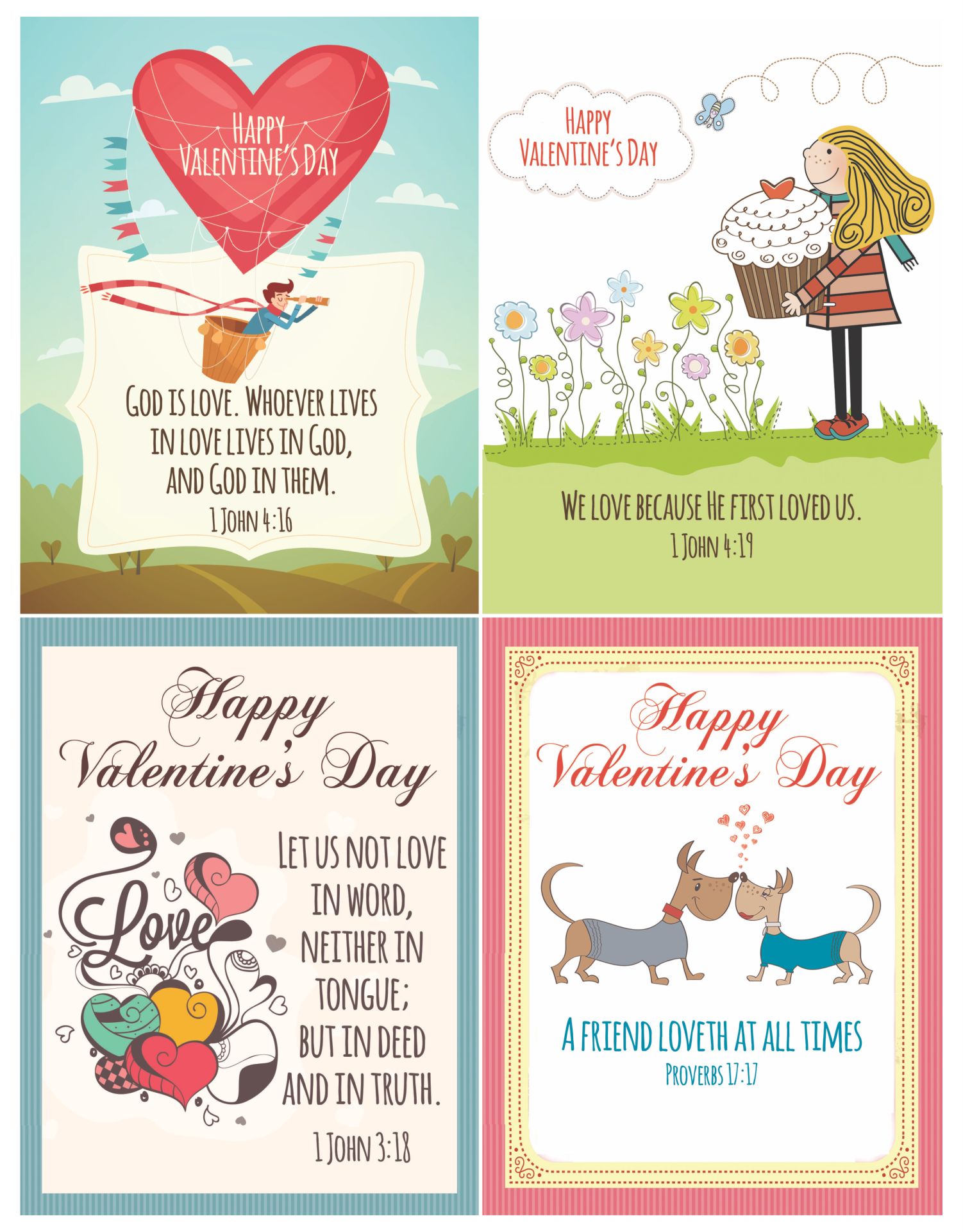 9 Images of Christian Valentine Cards Free Printable