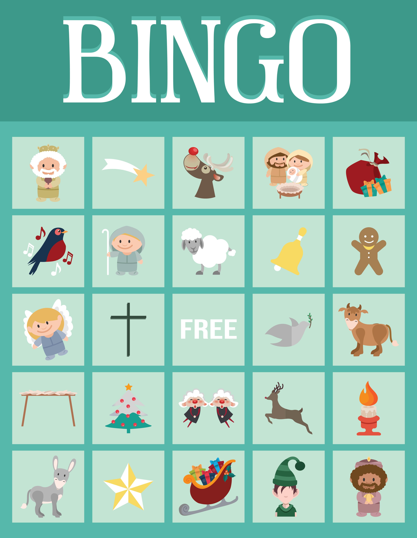 5 Images of Christmas Bible Bingo Printable