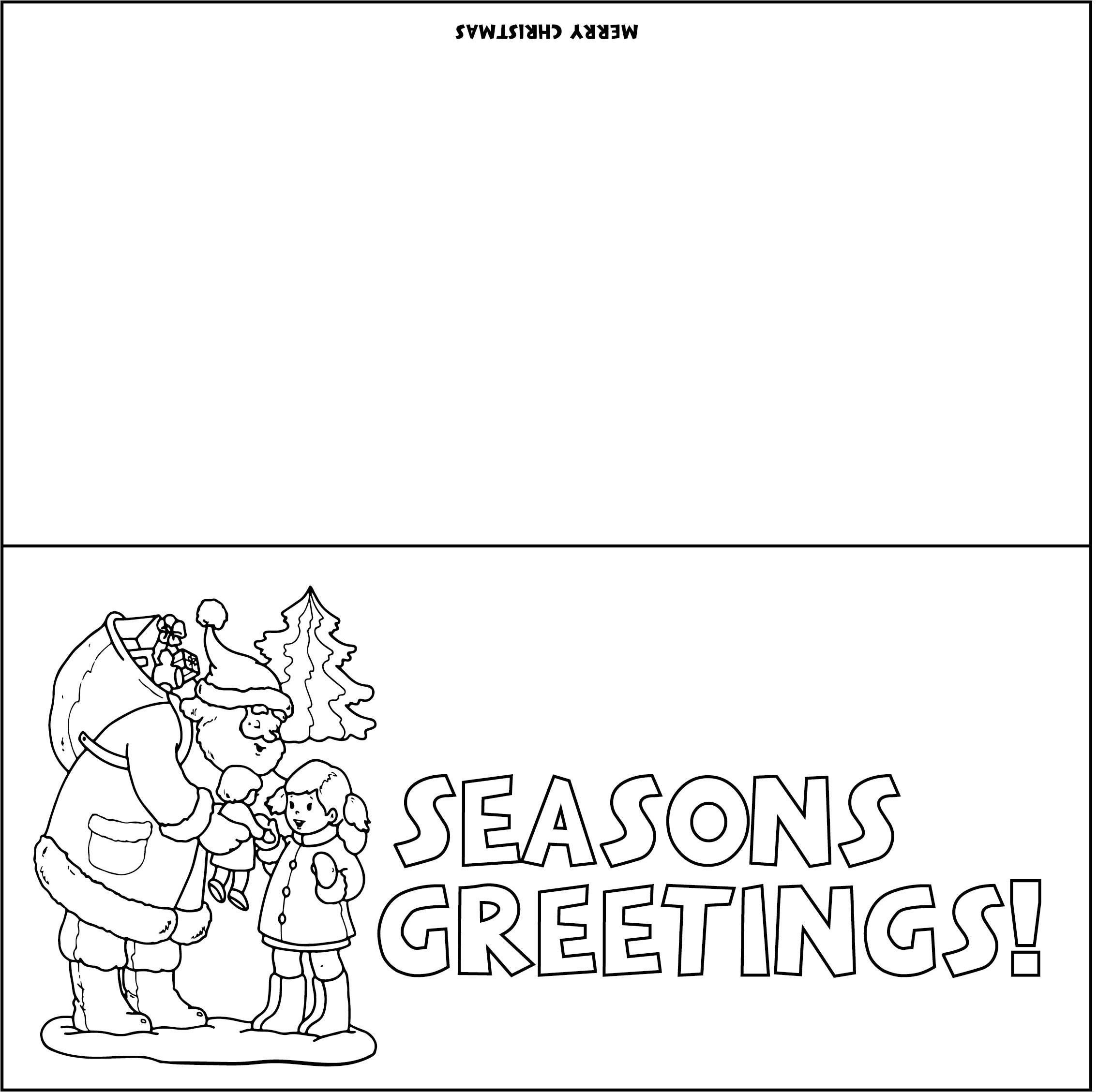 8 Images of Printable Christmas Cards To Color