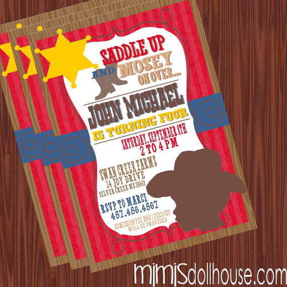 8 Images of Printable Western Birthday Party Invitations