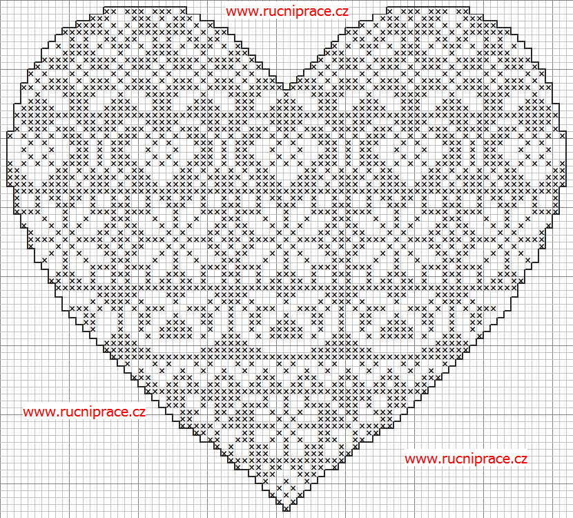 8 Best Images Of Free Printable Cross Stitch Hearts