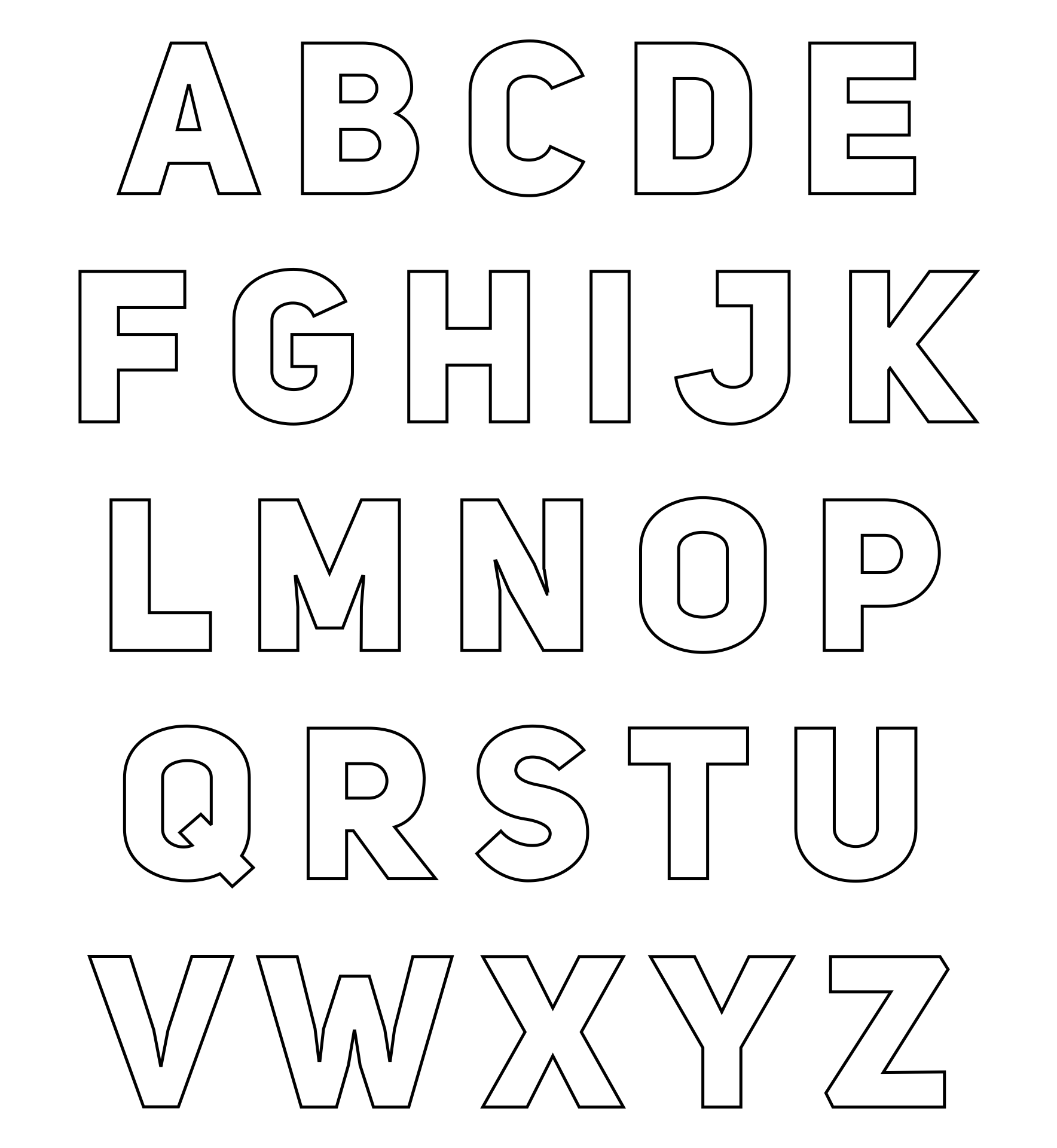 Free Printable Block Letters For Posters