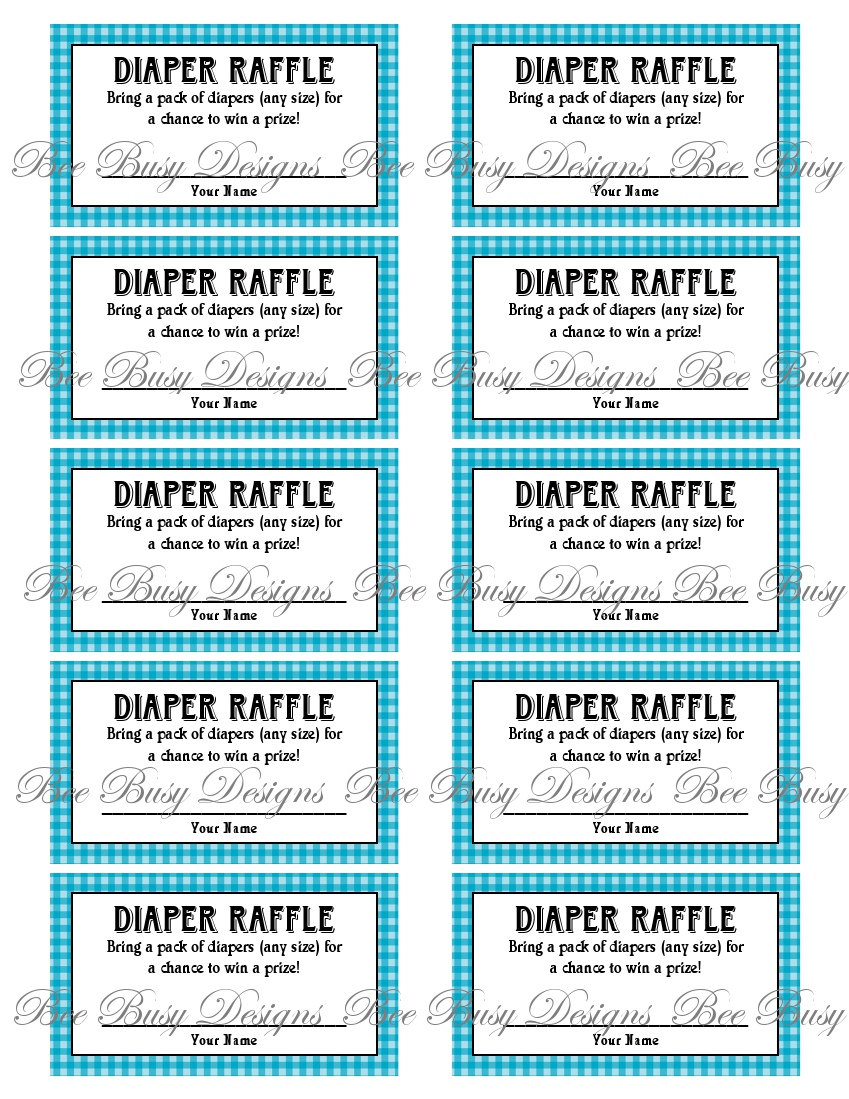 4 Images of Free Printable Diaper Raffle Ticket Template