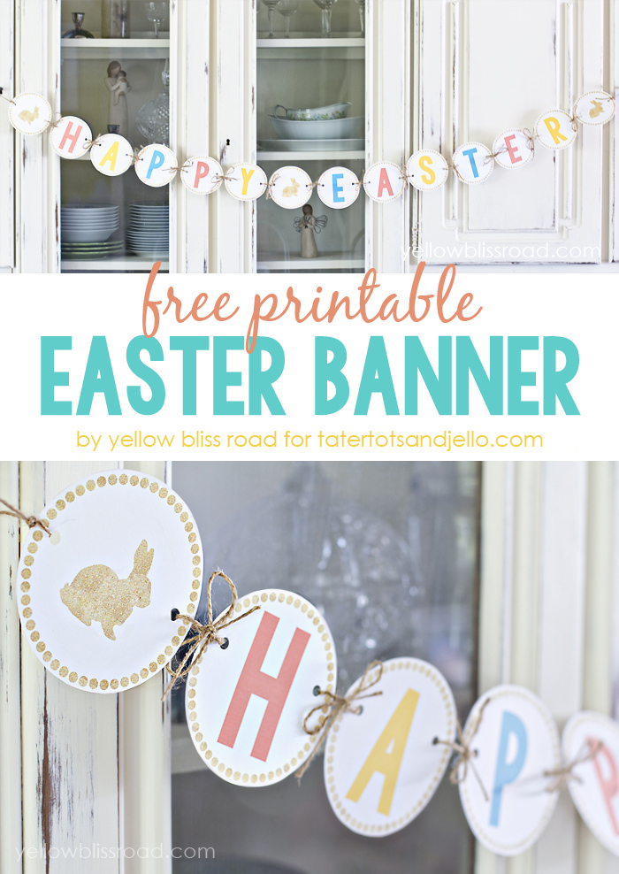 7 Images of Free Printable Easter Banner DIY