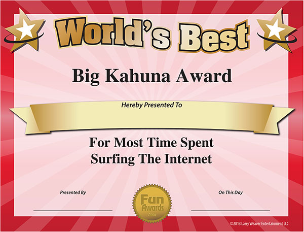 printable funny award certificates funny office award certificates