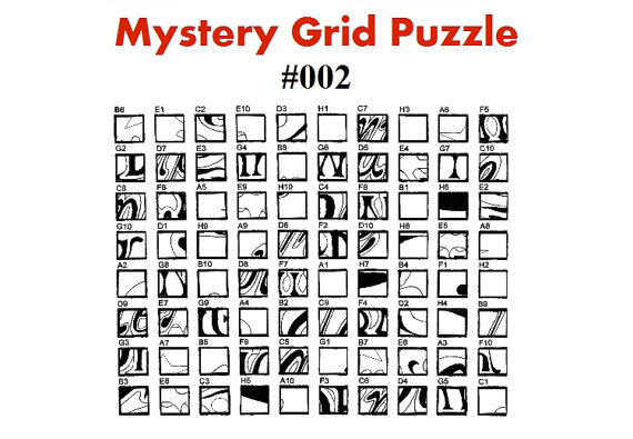 5 best images of mystery grid drawing puzzles printable for Mystery grid coloring pages