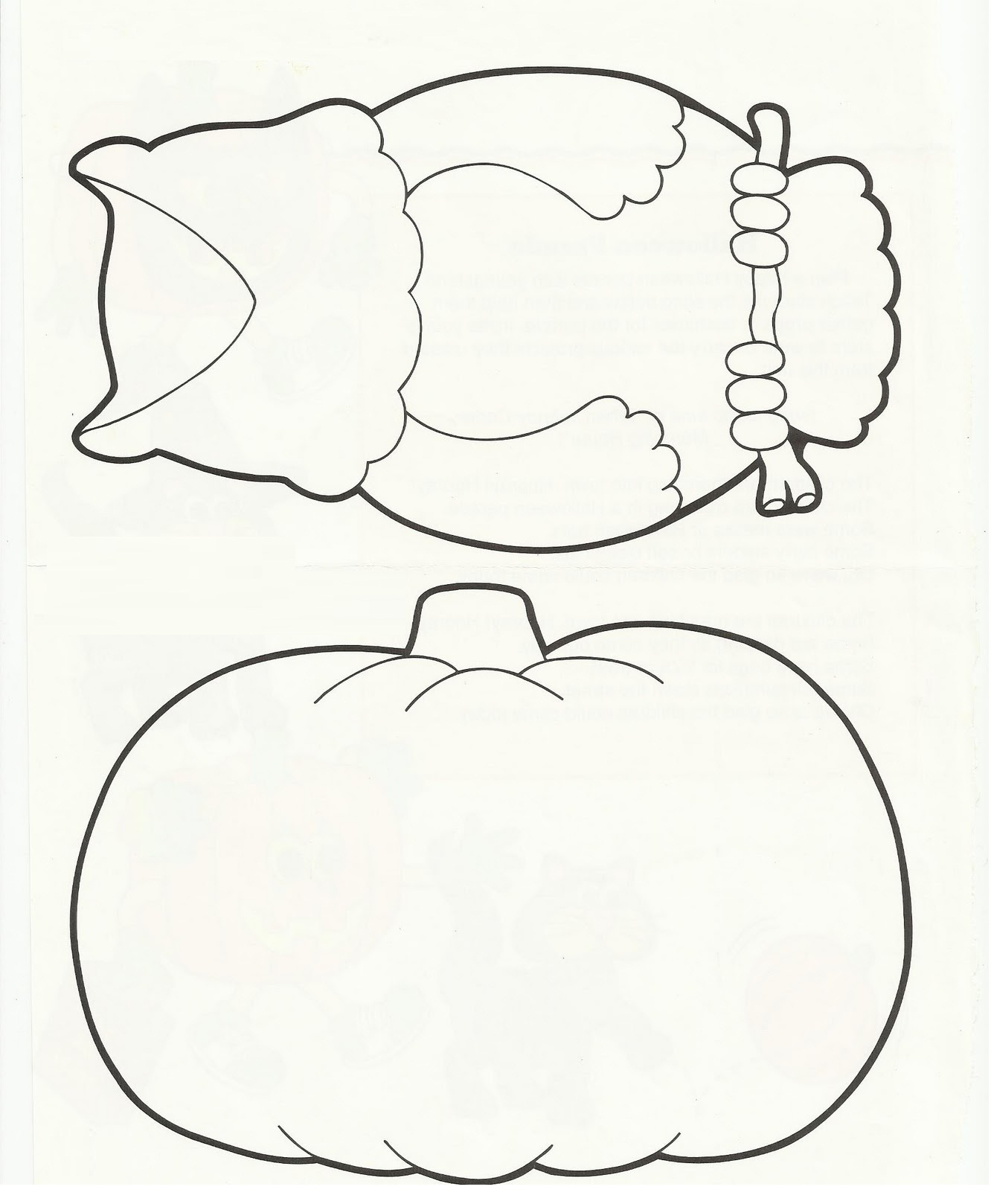 8 best images of owl pumpkin template printable owl for Pumpkin templates free printable
