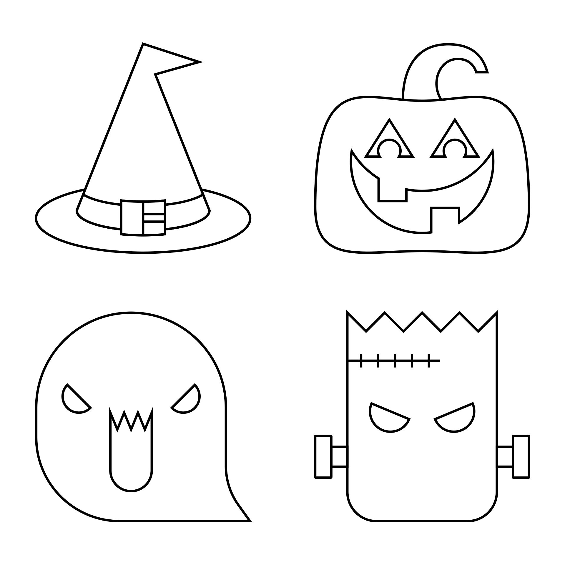 5 Images of Free Printable Halloween Stencils