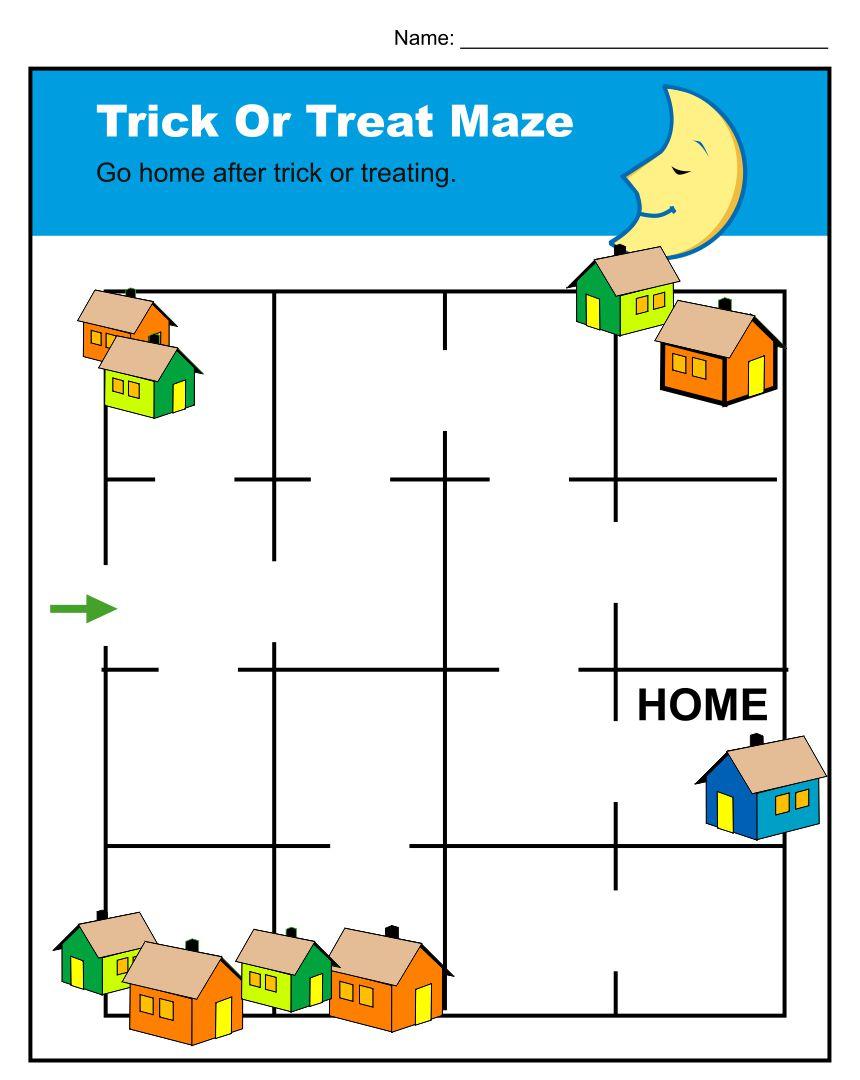 Printable Halloween Worksheets