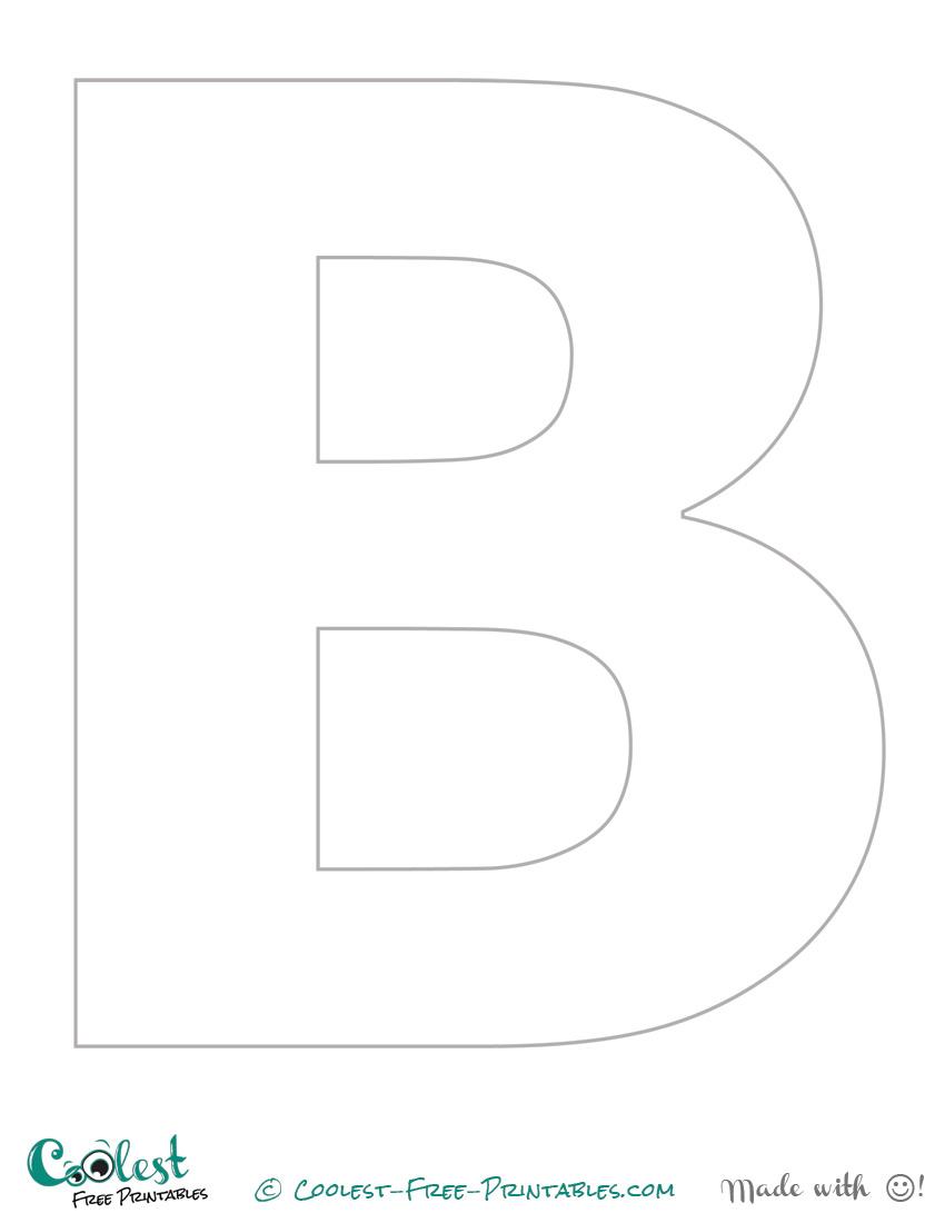 Free Printable Letter Stencils B