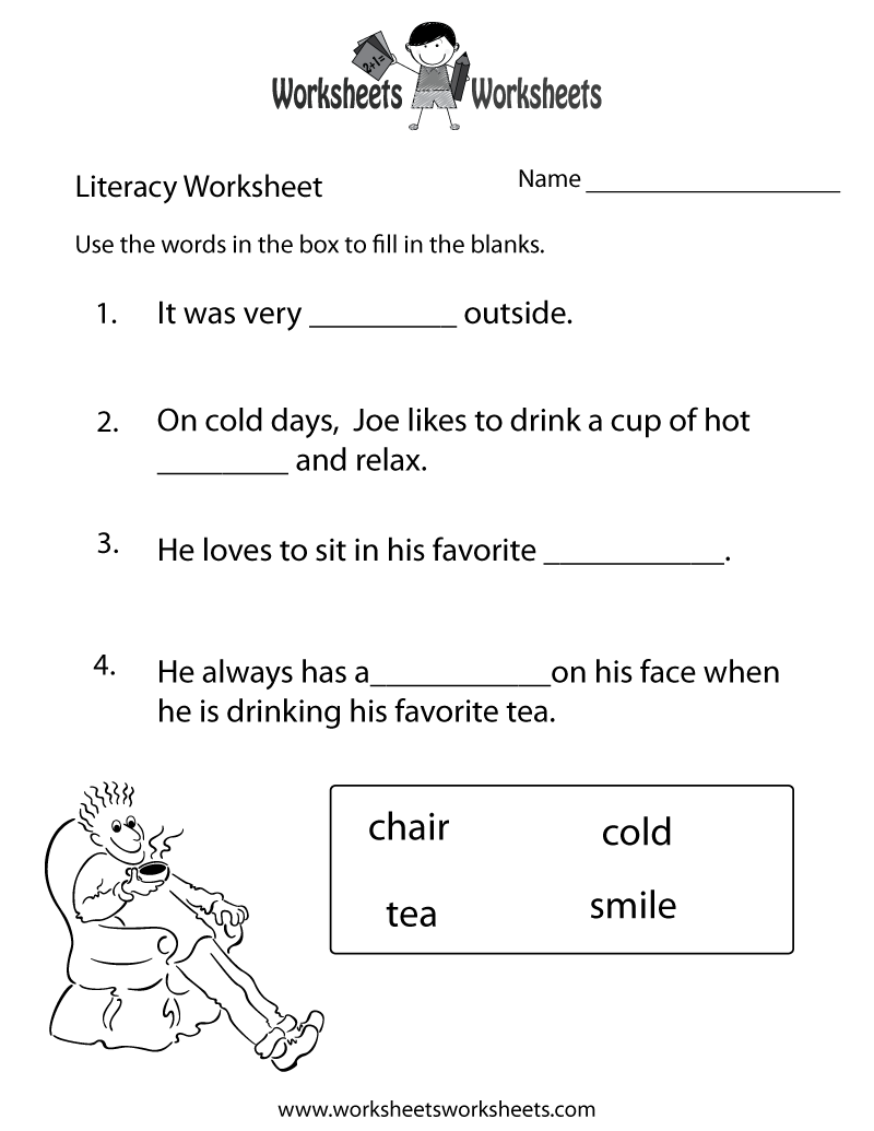 9 Images of Kindergarten Literacy Worksheets Free Printable