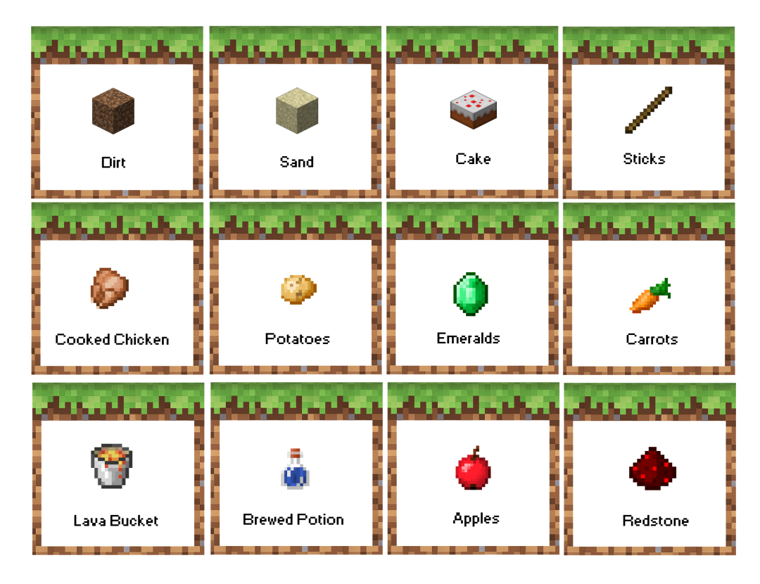 7 Images of Sticks Minecraft Party Printables Free