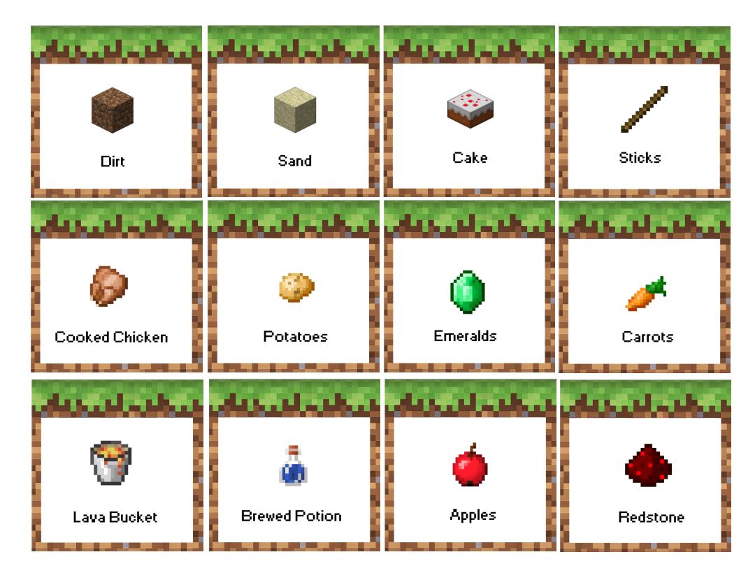 Sticks Minecraft Party Printables Free