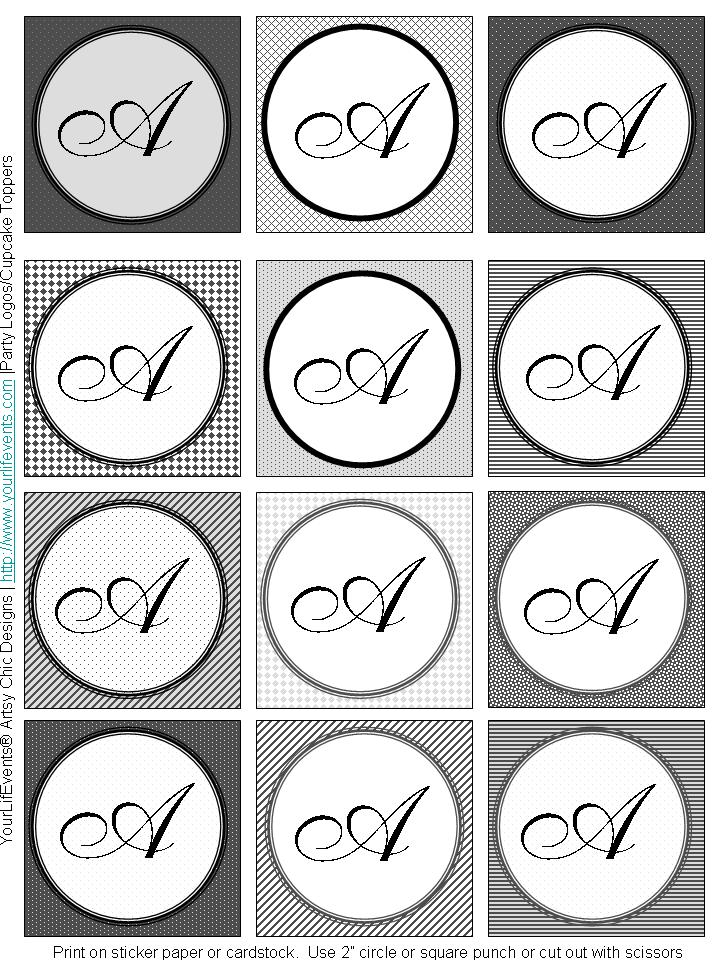 Monogram printable images gallery category page 1 for Free monogram template