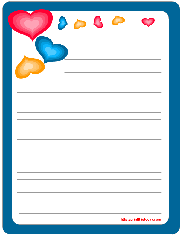 5 Images of Boy Free Printable Stationary