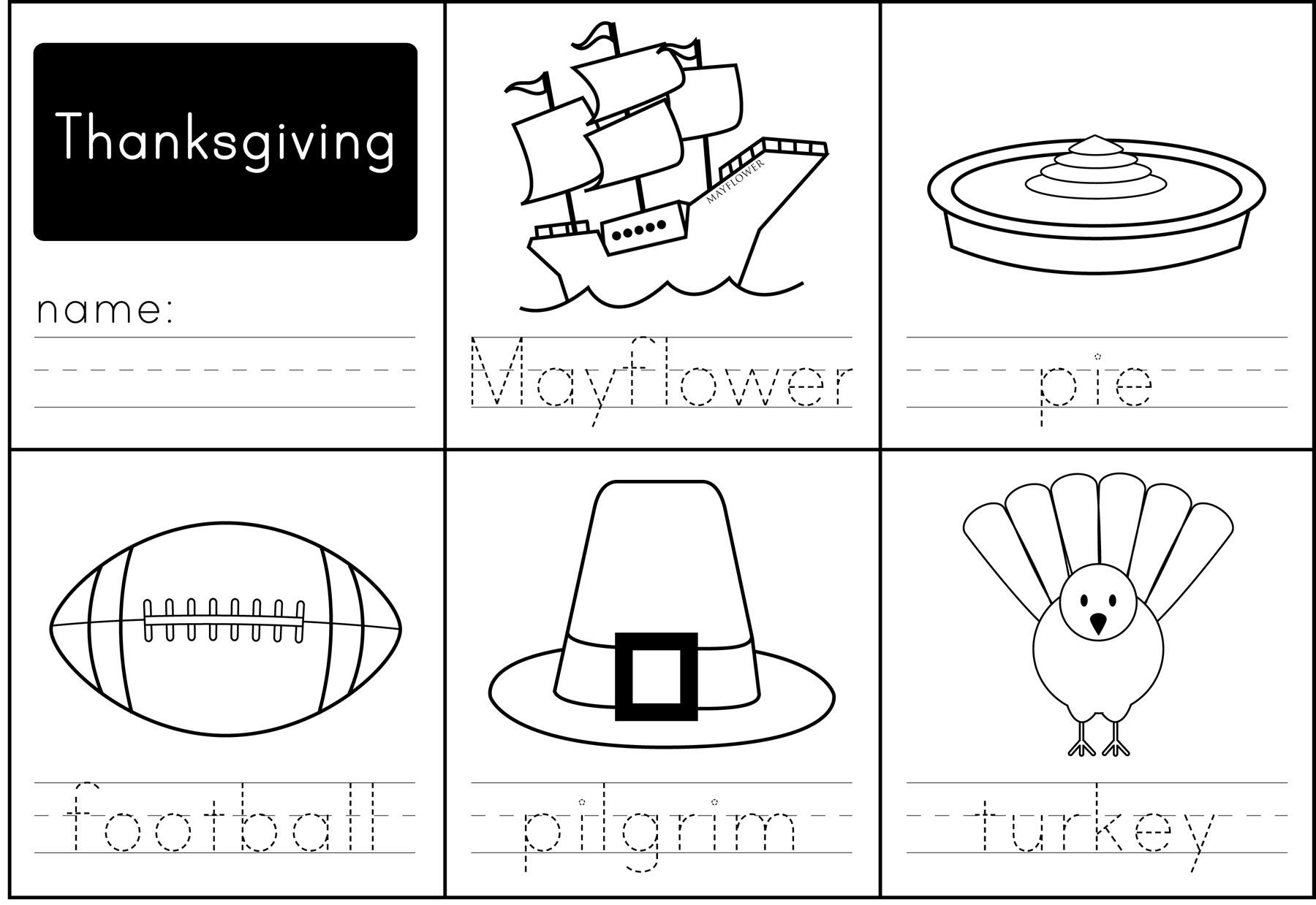 Thanksgiving homework sheets – Kindergarten Thanksgiving Worksheet