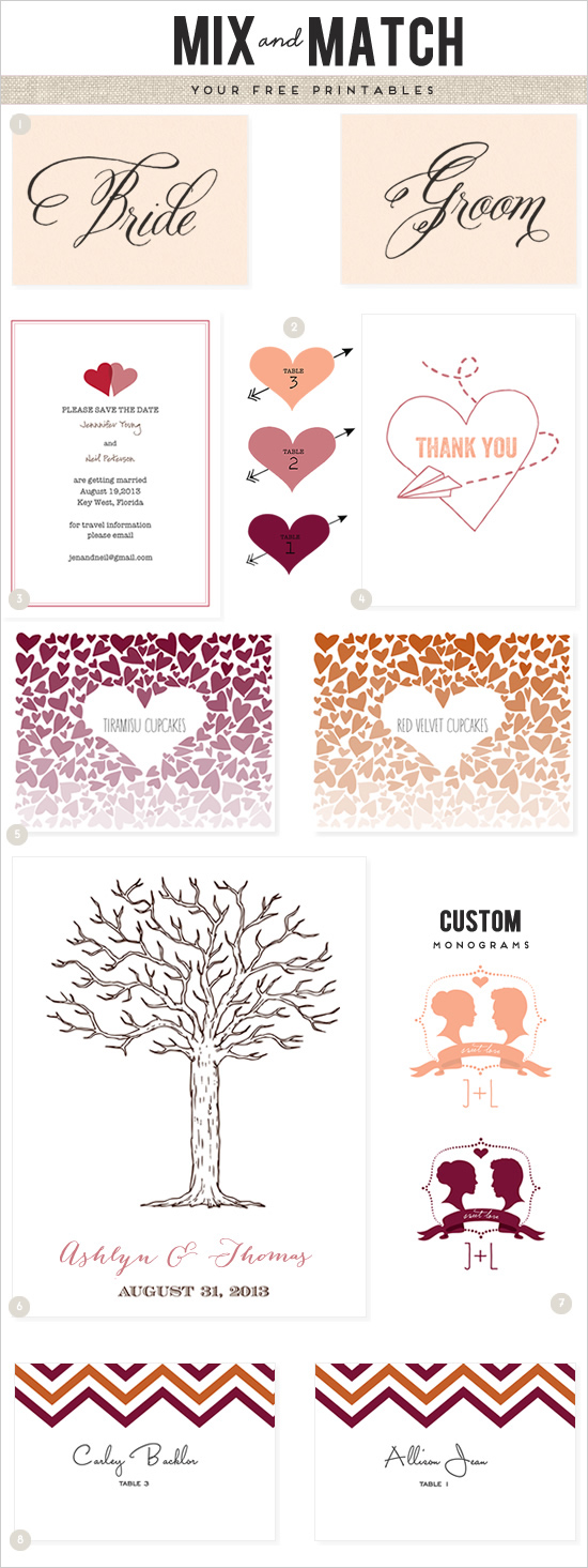8 Best Images Of Free Wedding Heart Template Printable