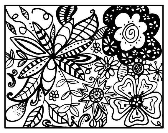 8 Images of Zentangle Patterns Free Printable Coloring Pages