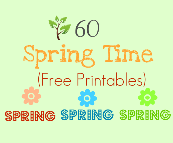 6 Images of Free Spring Time Printables