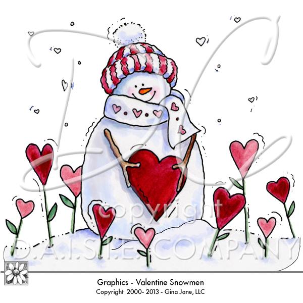 Free Valentine Clip Art Snowman