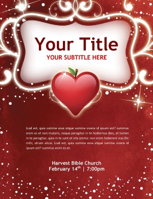 4 Images of Printable Valentine Flyer Template