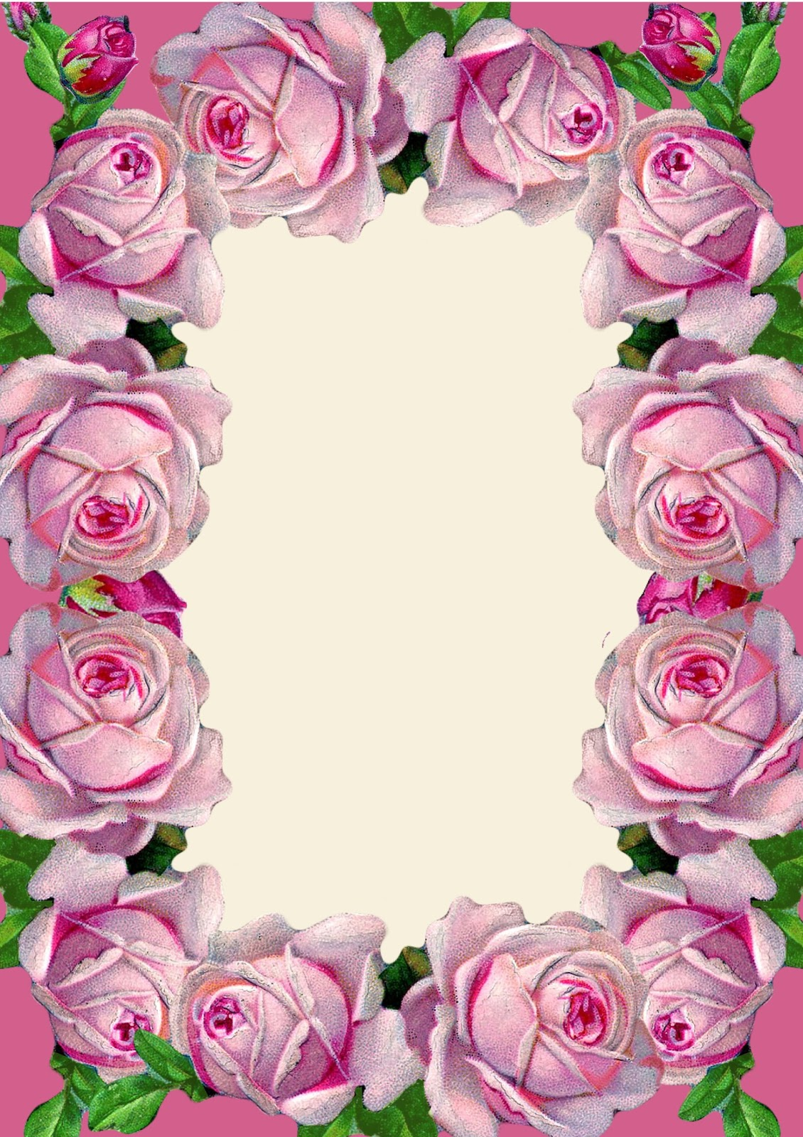 6 Images of Free Printable Vintage Pink Roses
