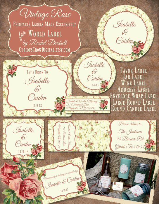 8 Images of Round Rose Vintage Printables