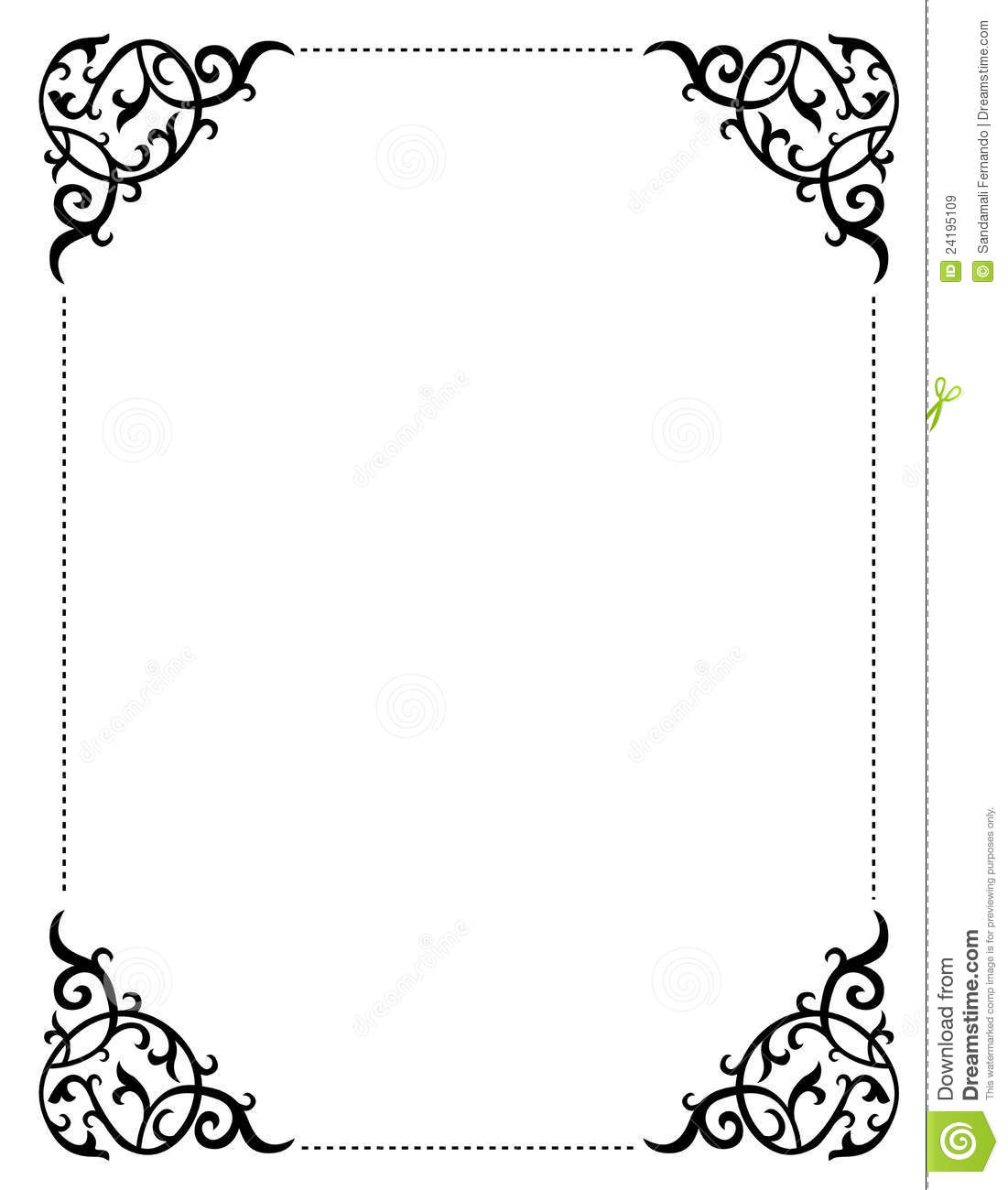 This is a picture of Free Printable Border Paper with template